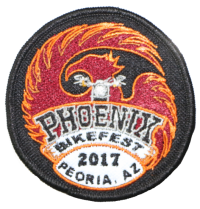Official Patch for 2017 Phoenix Bikefest (3 inch round)